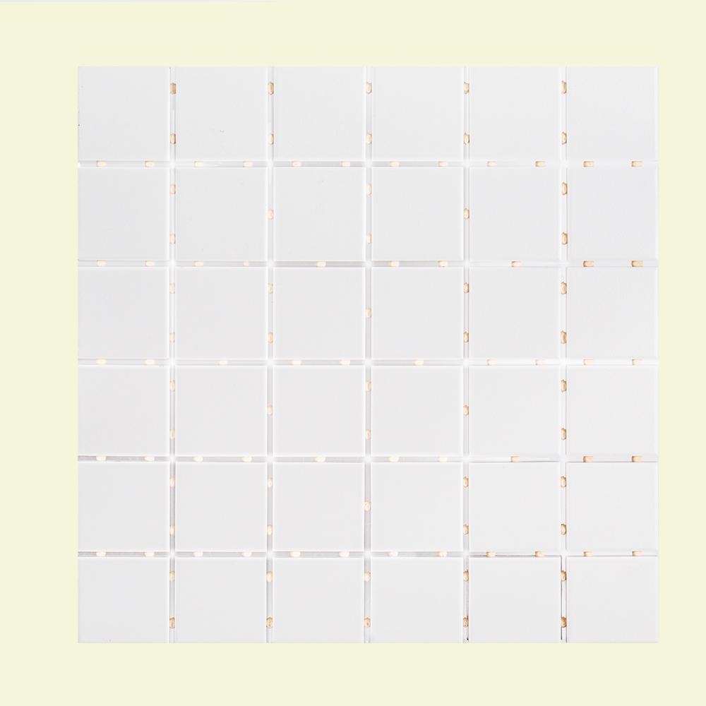 Classic 11-7/8 in. x 11-7/8 in. x 6 mm Porcelain Mosaic