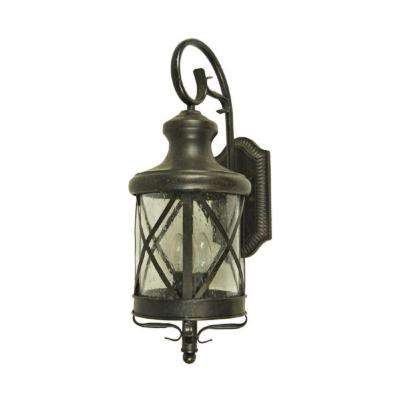Taysom 4-Light Oil-Rubbed Bronze Outdoor Wall Mount Lantern