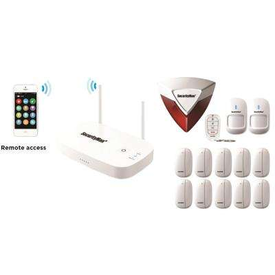 Mobile App Based Wireless Home Security Alarm System with 12 Sensors for Home and Office