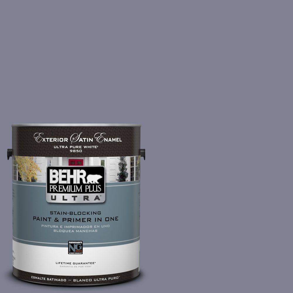 BEHR Premium Plus Ultra 1-Gal. #UL250-19 Metro Satin Enamel Exterior Paint