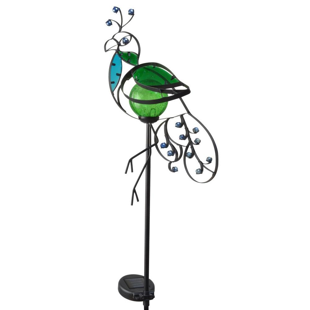 Moonrays Peacock Solar Powered Integrated LED Outdoor Landscape Stake Light