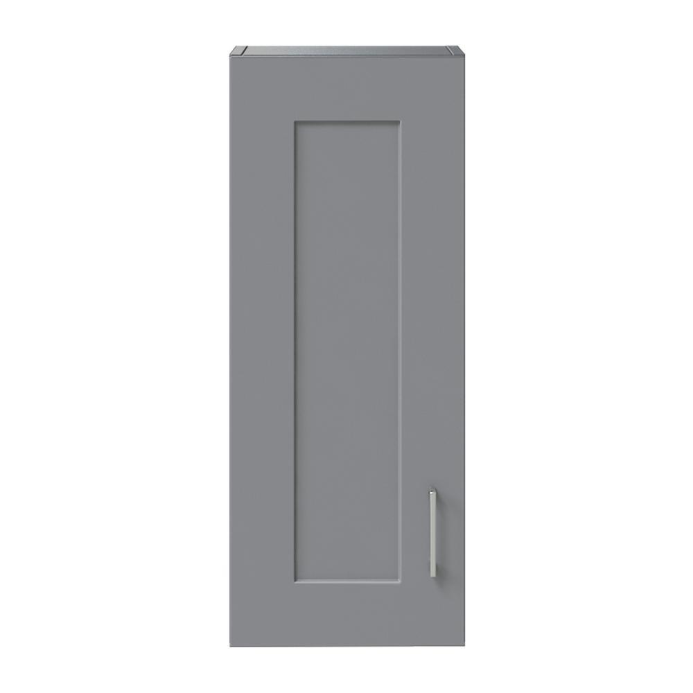 Hawthorne 12 in. W Wall Cabinet in Twilight Gray