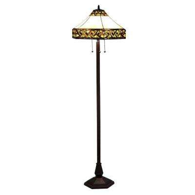 Tiffany Alhambra 61 in. Bronze Floor Lamp