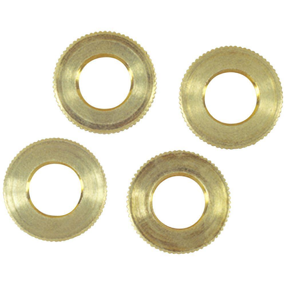 4 Solid Brass Knurled Locknuts