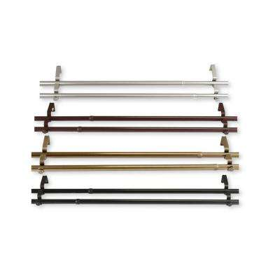 120 in. - 170 in., 13/16 in. Dia Double Curtain Rod in Cocoa