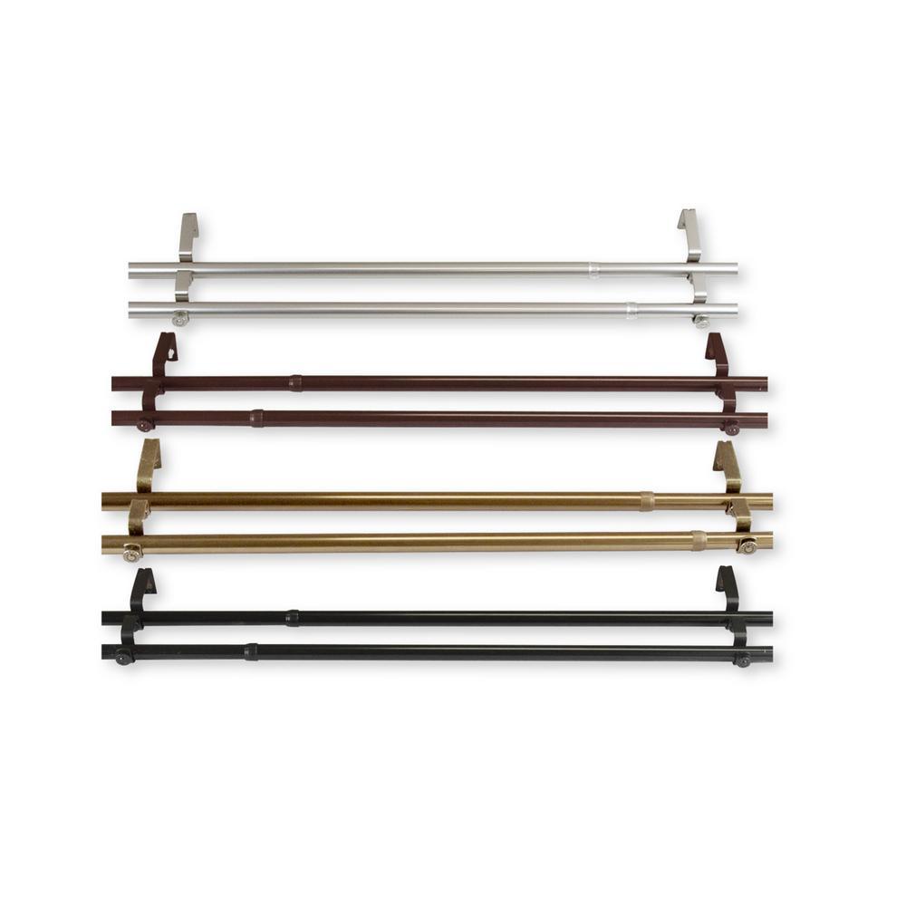 Rod Desyne 66 in  - 120 in  Adora Double Curtain Rod in Satin Nickel