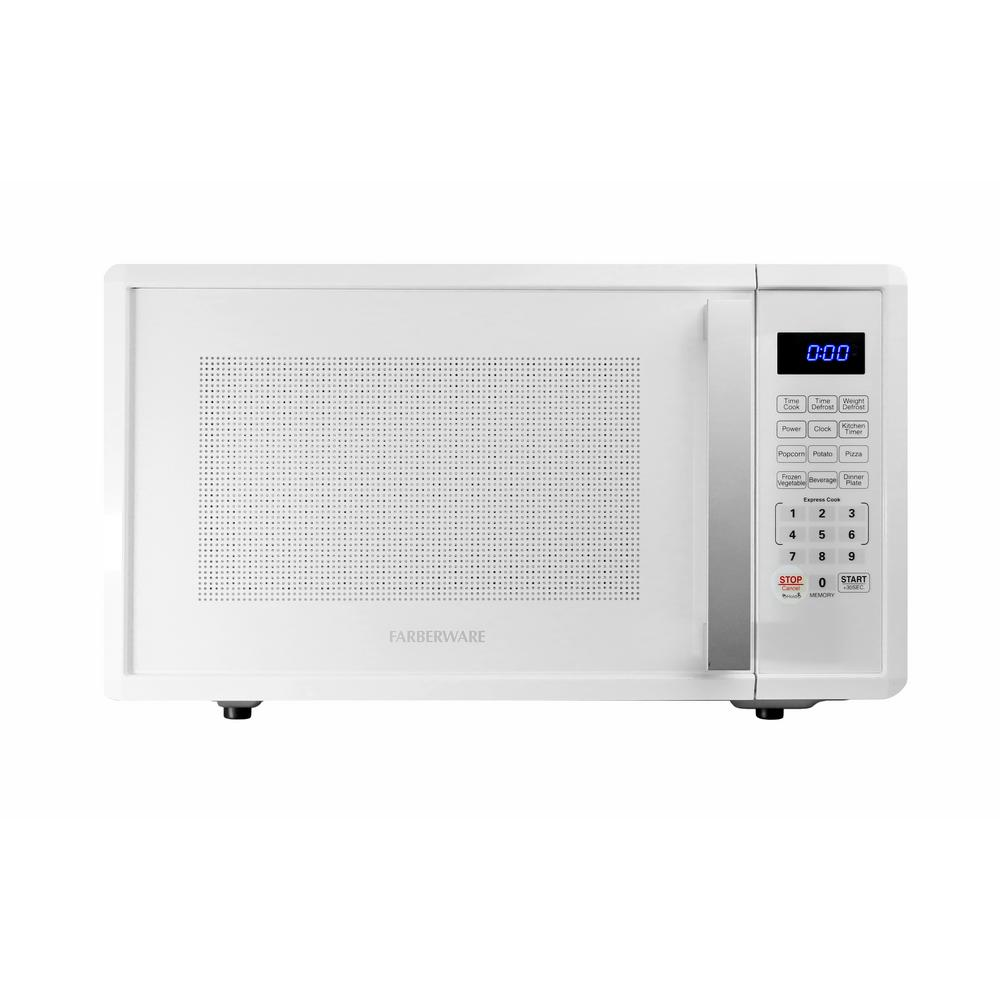 Farberware Pro 1.1 cu. ft. 1000-Watt Countertop Microwave Oven in White