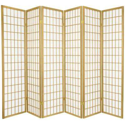 6 ft. Gold Window Pane 6-Panel Room Divider