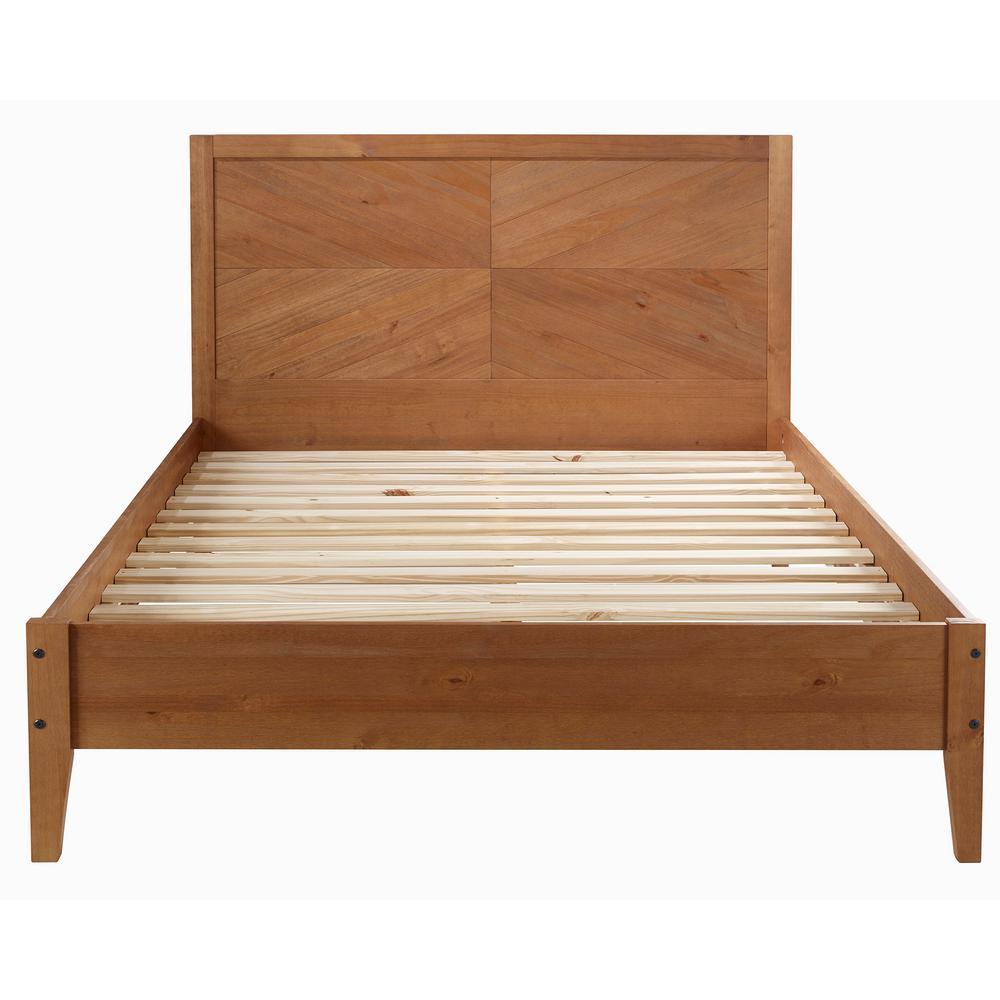 Caramel Queen Solid Wood Bed