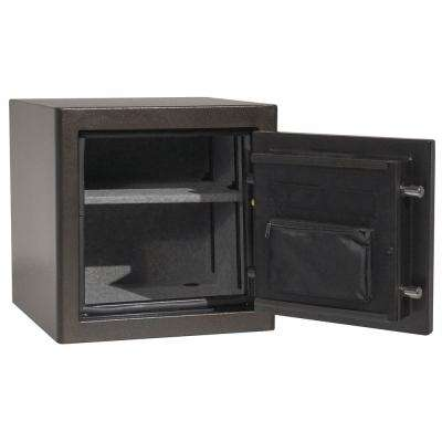 Sanctuary Diamond Mid-Size Fire/Waterproof Safe with Electronic Lock in Midnight Earth Textured Gloss