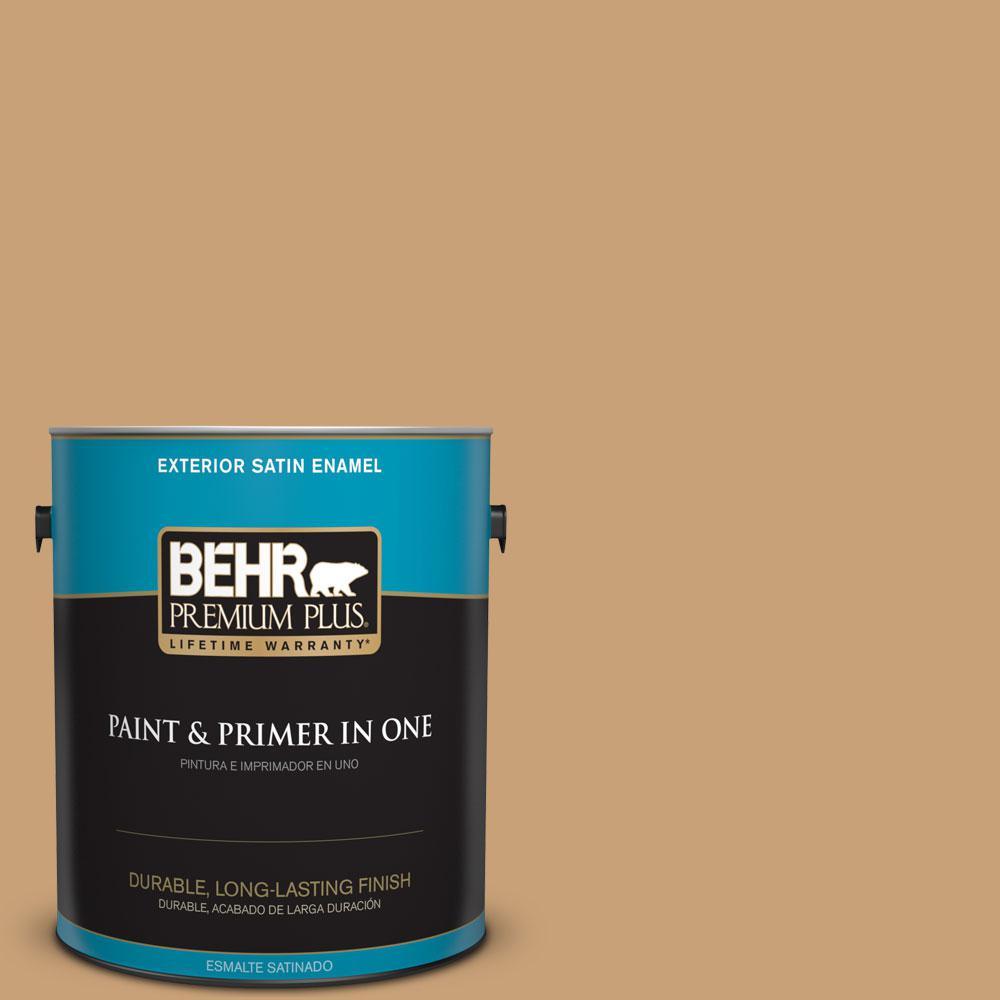 1-gal. #BXC-70 Fresh Sawdust Satin Enamel Exterior Paint