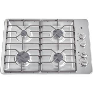 5 ge 30 in gas cooktop in stainless steel with 4