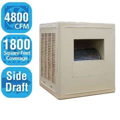 4,800 CFM Side-Draft Aspen Roof/Side Evaporative Cooler for 18 in. Ducts 1,800 sq. ft. (Motor Not Included)