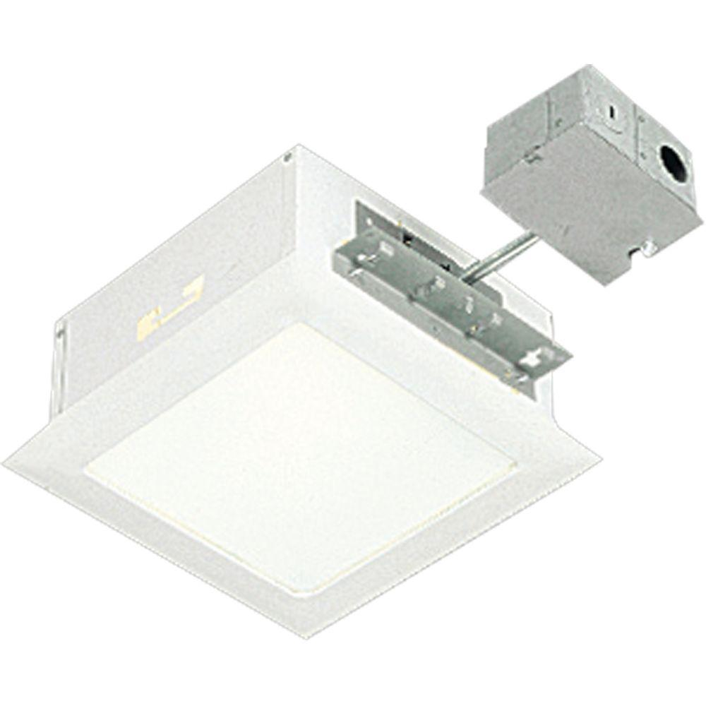 Progress Lighting 11.5 in. White Square Recessed Lighting Housing and Trim-P6416-30TG - The Home Depot  sc 1 st  The Home Depot : home depot recessed lighting - azcodes.com