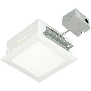 Progress lighting 115 in white square recessed lighting housing progress lighting 115 in white square recessed lighting housing and trim p6416 30tg the home depot aloadofball Images