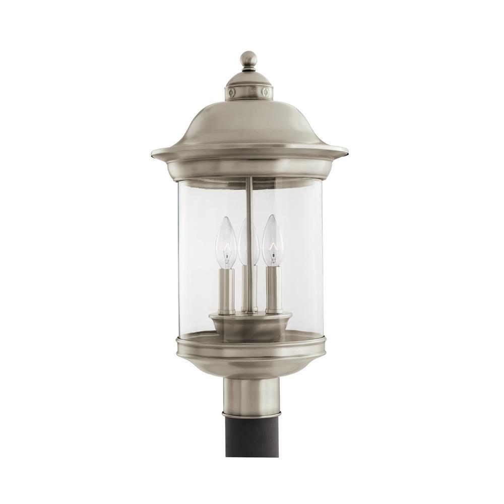 Sea Gull Lighting Hermitage 3-Light Outdoor Antique