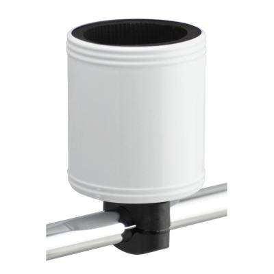 Kroozercups Drink Holder 2.0 Fits Bars from 5/8 in. to 1-3/8 in. with New Super-Tight Grip in White