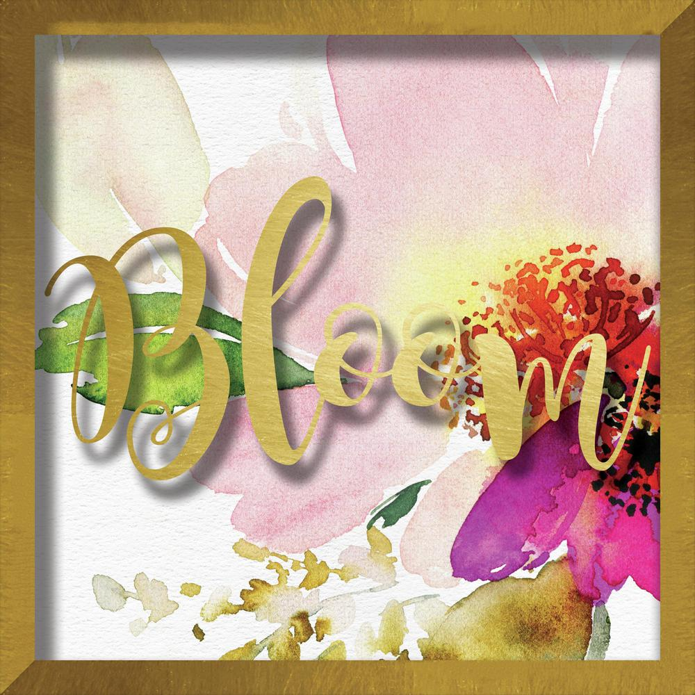 Linden Ave Bloom Watercolor Peony-Small Format 10 in. x 10 in ...