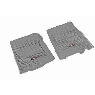 Floor Liner Front Pair Gray 1997-2003 Ford F150 Supercar