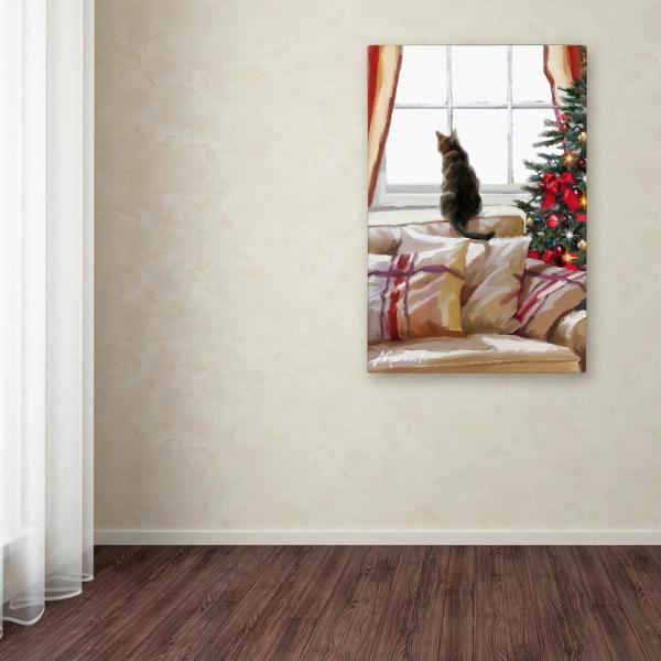 Pleasing 19 In X 12 In Cat On Chair By The Macneil Studio Printed Canvas Wall Art Machost Co Dining Chair Design Ideas Machostcouk