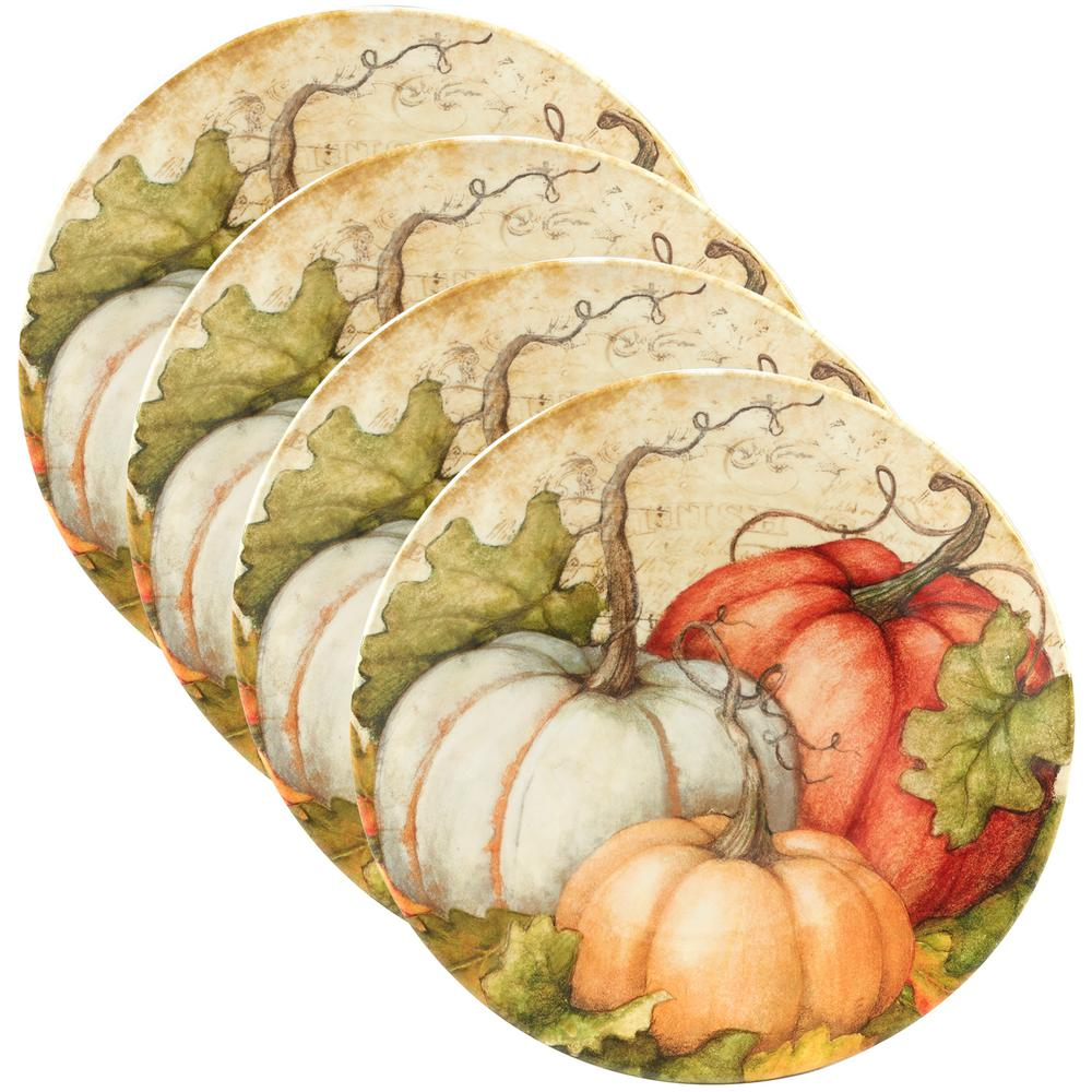 Autumn Fields by Susan Winget 9 in. Salad Plate (Set of