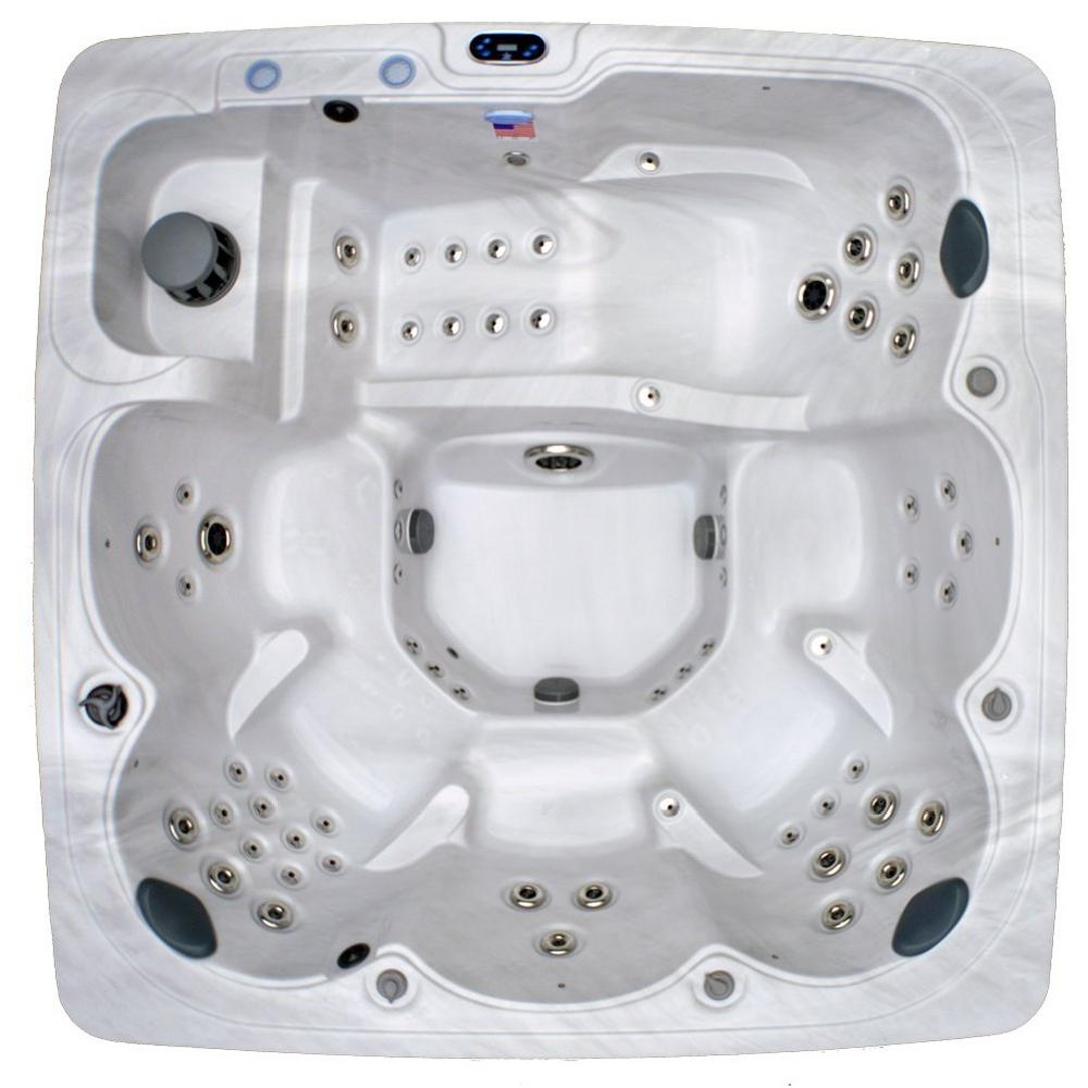 Perfect Home And Garden Spas 6 Person 90 Jet Spa With MP3 Auxiliary Hookup