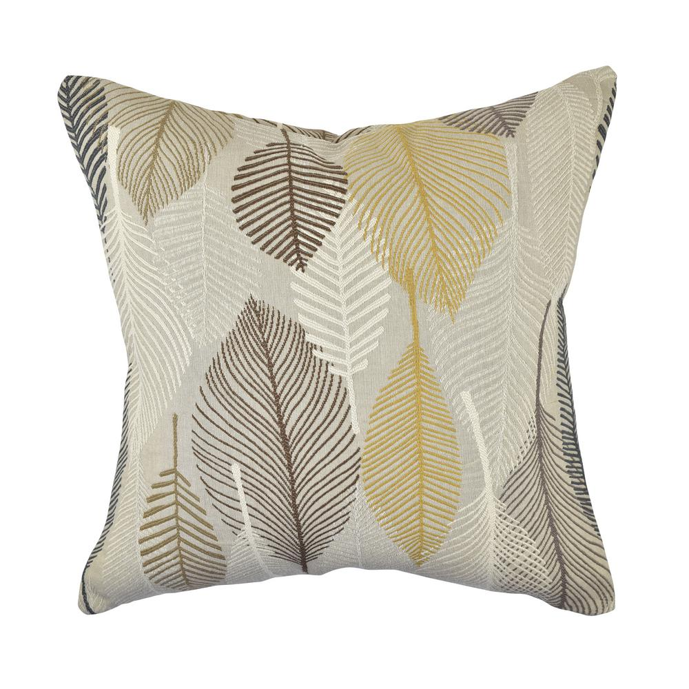 Vesper lane gray and rustic leaves woven throw pillow fl01gyz20i the home depot