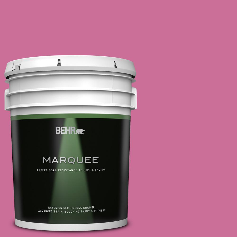 Behr Marquee 5 Gal 100b 6 Fuchsia Kiss Semi Gloss Enamel Exterior Paint And Primer In One 545305 The Home Depot