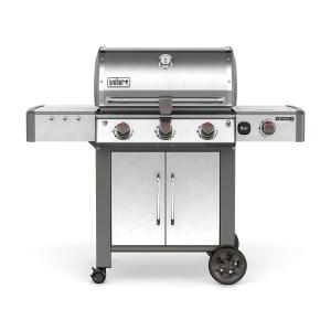 Weber Genesis II LX S-340 3-Burner Natural Gas Grill in Stainless Steel with Built-In Thermometer and Grill... by Weber