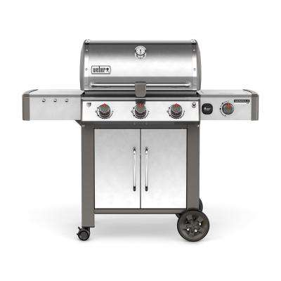 Genesis II LX S-340 3-Burner Natural Gas Grill in Stainless Steel with Built-In Thermometer and Grill Light