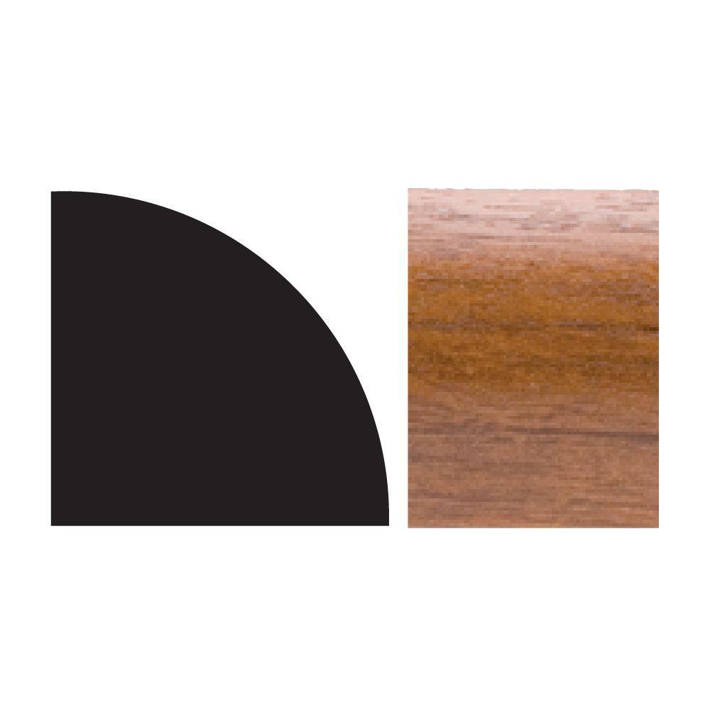 5111 5/8 in. x 5/8 in. x 8 ft. PVC Quarter Round Moulding Gunstock
