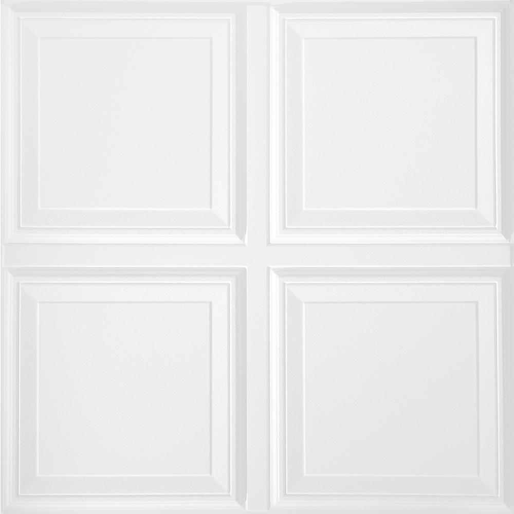Armstrong 2 Ft X 2 Ft Raised Tegular Ceiling Panel 1201 The Home Depot