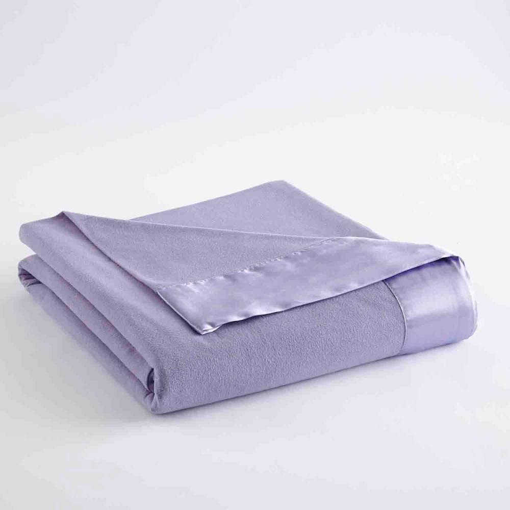 MicroFlannel Micro Flannel All Seasons Lightweight Amethyst Solid King Flat Sheet, Purple