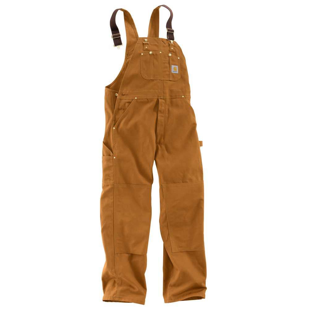 ba355ceabc Carhartt Men s 52x30 Carhartt Brown Cotton Bib Overalls-R01-BRN ...