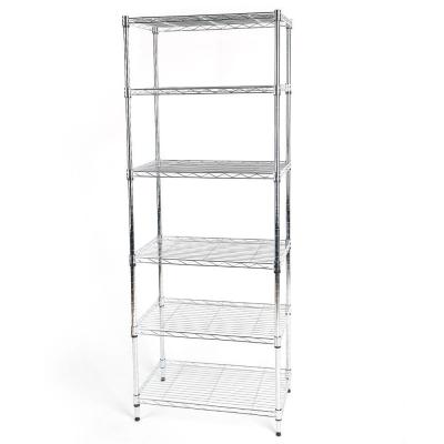 Chrome 6-Tier Metal Wire Shelving Unit (24 in. W x 60 in. H x 14 in. D)