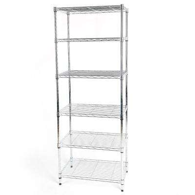 60 in. H x 23.23 in. W x 13.39 in. D 6-Shelf Storage Unit