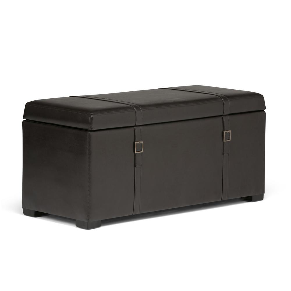 Dorchester Tanners Brown Storage Bench