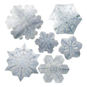 Artscape 12 inch x 12 inch Snowflake Holiday Sapphire Decorative Window Accents Film by Artscape