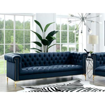 Faux Leather Blue Sofas Loveseats