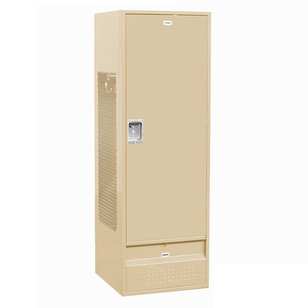 Salsbury Industries 71000 Series 24 in. W x 78 in. H x 24 in. D - Gear Metal Locker with Solid Door Assembled in Tan