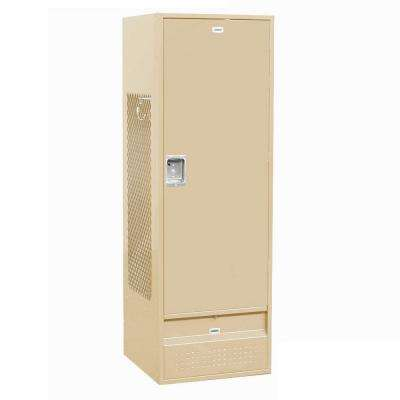 71000 Series 24 in. W x 78 in. H x 24 in. D - Gear Metal Locker with Solid Door Assembled in Tan