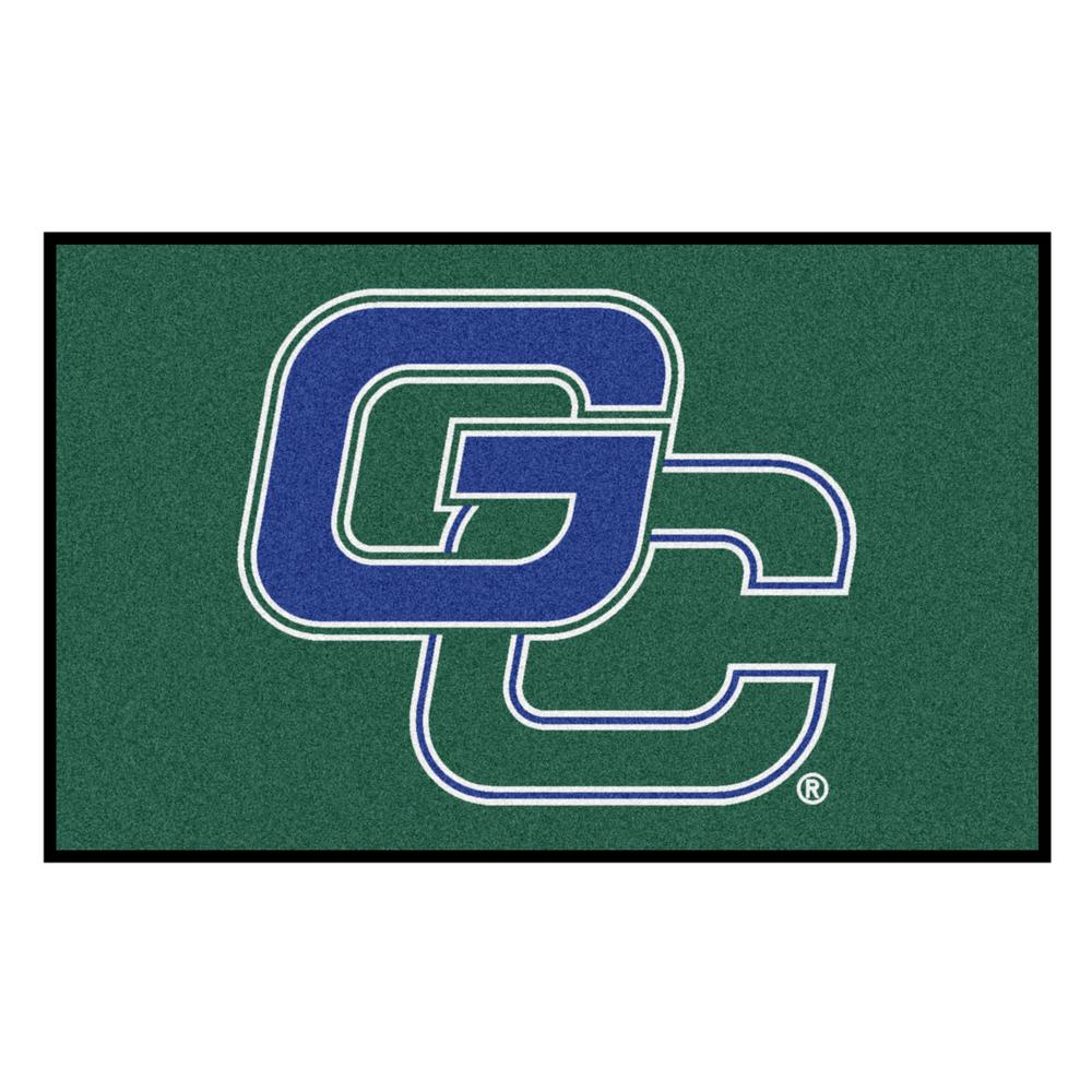 Ncaa Georgia College and State University Green 5 ft. x 8 ft. Area Rug