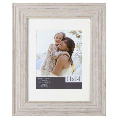 1-Opening 11 in. x 14 in. Matted to 8 in. x 10 in. Picture Frame