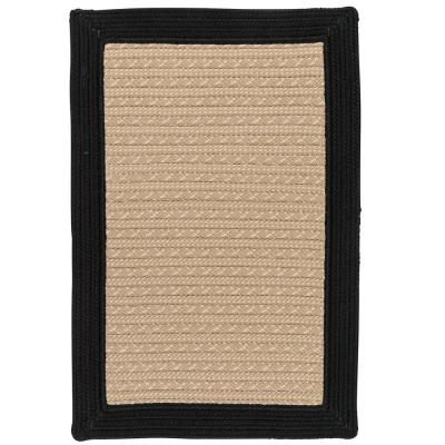 Beverly Black 2 ft. x 3 ft. Braided Indoor/Outdoor Area Rug