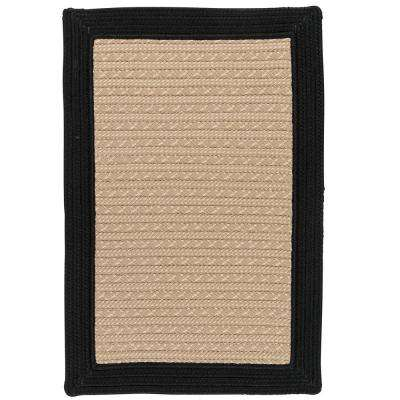 Beverly Black 4 ft. x 6 ft. Braided Indoor/Outdoor Area Rug