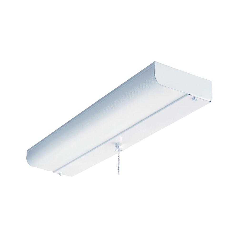 Light White Fluorescent Ceiling Closet