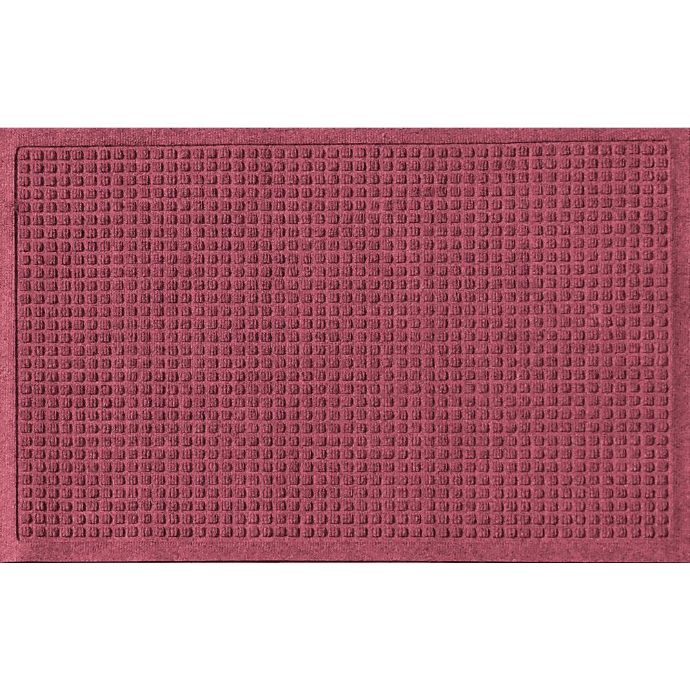 Aqua Shield Bordeaux 24 in. x 36 in. Squares Polypropylene Door Mat