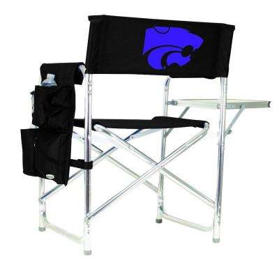 Kansas State University Black Sports Chair with Digital Logo