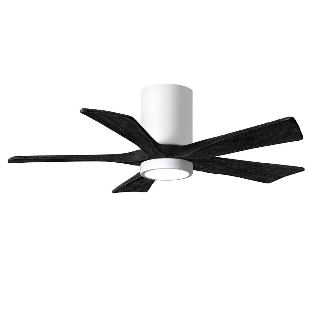 Irene-5HLK 42 in. Integrated LED Gloss White Ceiling Fan