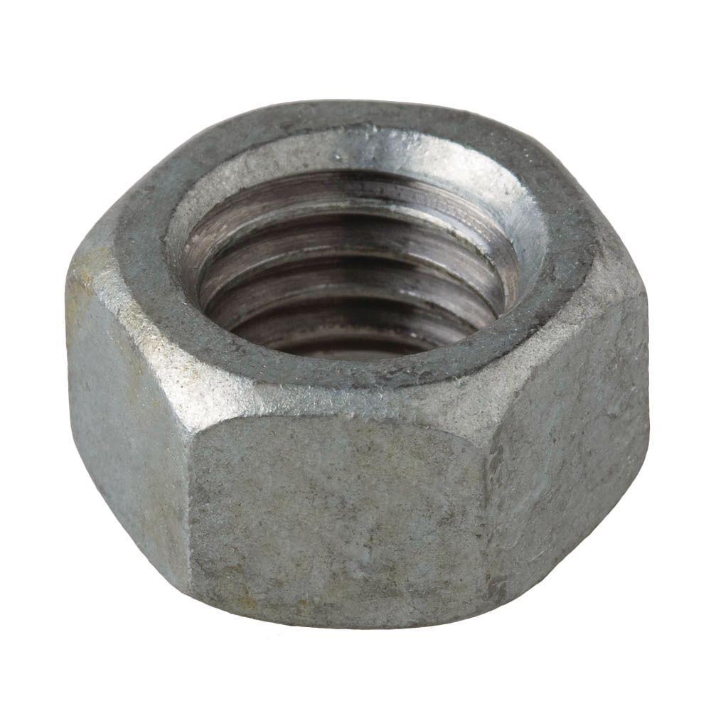 3/8 in.-16 tpi Galvanized Hex Nut (100-Piece per Box)